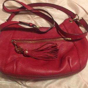 Michael Kors crossbody red purse